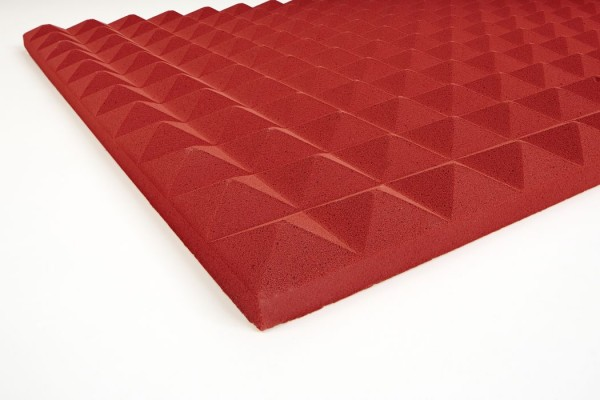 Pyramidenschaumstoff Basotect 3 cm rot