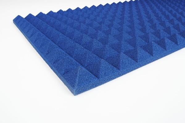 Pyramidenschaumstoff PU 3 cm blau
