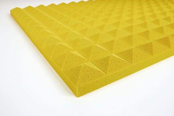 Basotect Pyramidanschaumstoff 3 cm gelb