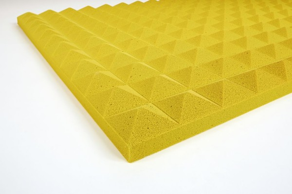 Pyramidenschaumstoff Basotect 3 cm gelb