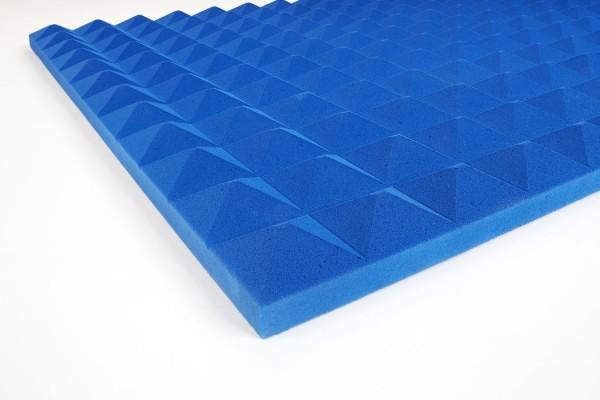 Basotect Pyramidanschaumstoff 3 cm blau